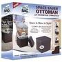 Kit Saco A Vácuo + Box Space Bag Ottoman 3x Mais Espaço