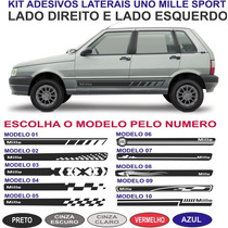 Adesivo Lateral Fiat Uno Mille Way Economy Mile Kit 2015