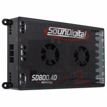 Modulo Soundigital Sd800.4d Sd800 Sd800.4 800w Rms 4 Canais