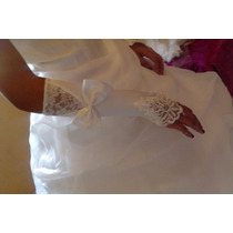 Luva Marfim Bege Noiva 15 Anos Pronta Entrega