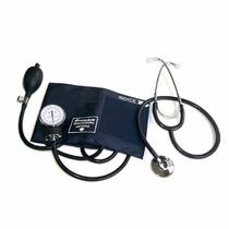 Kit Esfigmomanômetro Fecho Velcro + Estetoscopio Premium