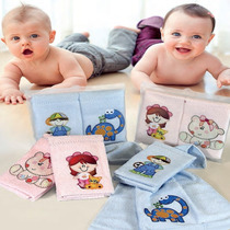 Kit Toalha Para Lavabo Infantil 2 Peças Mimo Azul Claro