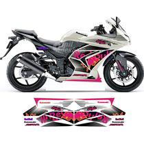 Adesivos Moto Kawasaki Ninja 250r Red Bull Kit Gráfico