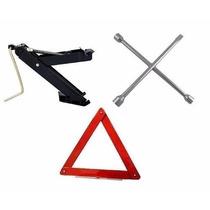 Kit Estepe Para Veiculos - Macaco + Triangulo + Chave Roda
