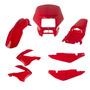 Kit Carenagem P/ Nxr Bros 125 150 Ano 2007 2008 - Vermelho