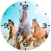 Relógio Parede Decoração Cavalo Cavalos Correndo