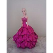 Boneca Com Vestido Eva - Rosa