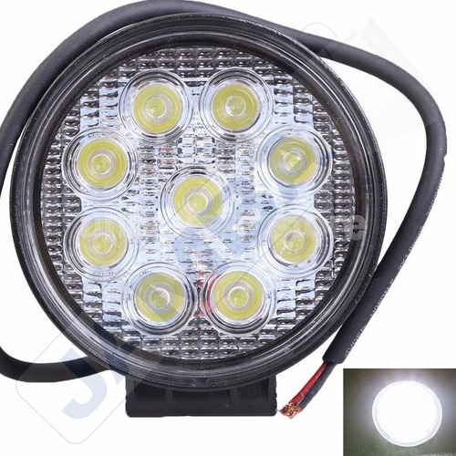 Farol Auxiliar Milha Led Cree 27watts 9 Leds Off Road