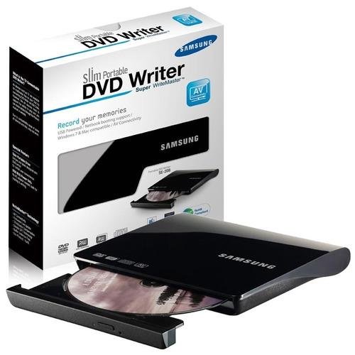 Gravador leitor slim externo samsung cd dvd usb preto for Esterno o externo