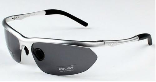 6223278cec882 Óculos De Sol Polarizado Police 100% Uva uvb Masculino Prata. R  149.9