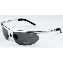 Óculos De Sol Polarizado Police 100% Uva/uvb Masculino Prata