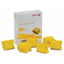 Cx Com 6 Bastões De Cera Solida Amarelo Para 8900 -108r01024