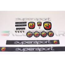 Kit Nº3 Adesivos Abarth Supersport P/ Fiat 500