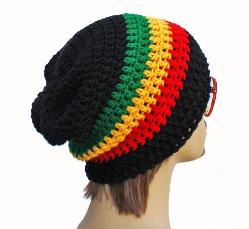 Gorro Touca Reggae Jamaica De Croche Beanie - Art Croche (Toucas) a