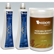 Kit Progress Shampoo Condicionador + Máscara Sos 1kg Midori