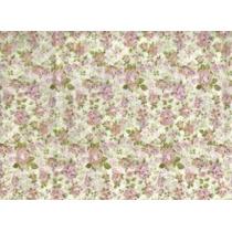 Toalha De Tnt Retangular Floral Pink 1,40m X 2,00m