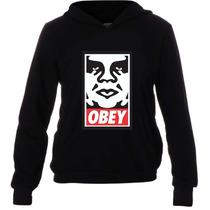 Casaco Moletom Swag Hoodie Hiphop - Obey - Com Bolso E Capuz