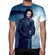 Camisa, Camiseta Série Game Of Thrones - Jon Snow Mod 02