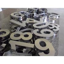 Letras Números Fachada Letreiro Em Aço Inox 50 Cm Promoção