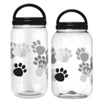 Kit Com 2 Potes Para Ração De 3.6 E 2.7 Litros Cachorro Gato