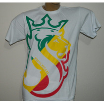 Camisa Reggae Algodão Sunlight Leão Branco Tenda Roots