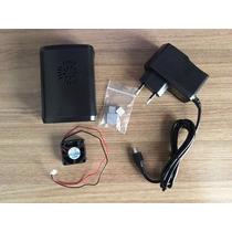 Kit Raspberry Pi3 Pi 3 Case Dissipador Cooler + Fonte 5v 2a
