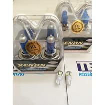 Kit Lâmpada Super Branca Corsa Classic 2002/2009 2h4+2h3+bri