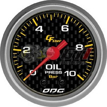 Manômetro Pressão De Óleo 10bar Odg Carbon 52mm