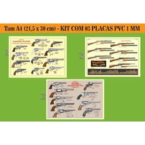 Placas Pvc - Série Armas Americanas - Kit C/3 - Frete Gratis