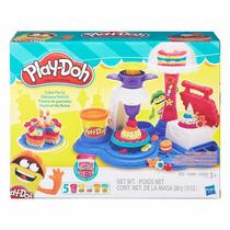 Brinquedos Massinha De Modelar Play Doh Fabrica De Bolos
