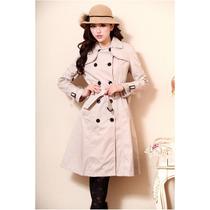Trench Coat Feminino (capa, Casaso, Sobretudo) Cor Cru Pp