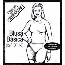 Molde De Costura Blusa Básica Feminina P/m/g