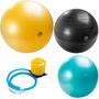 Kit 3 Bolas Gym Ball 55, 65 E 75cm Pilates Inflador Mormaii