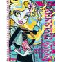 Caderno Capa Dura Universitário Monster High 1 Matéria - T