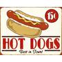 Placas Decorativas Hot Dog Cachorro Quente Vintage Old