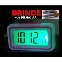 Relógio Despertador Fala Hora P/ Deficiente Visual, C/brinde