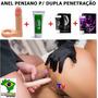Anel Peniano Plug Dupla Penetração Lubrificante Sexo Anal A4