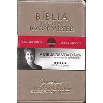 02 Bíblias De Estudo Joyce Meyer + Bíblia Sem Harpa + Índice