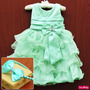 Vestido Tinker Bell Festa Infantil Luxo Com Tiara