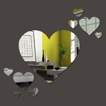 Kit Com 7 Espelhos Decorativos - Coração
