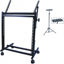 Rack Periféricos Mesa Som Potência 67cm + Descanso Microfone