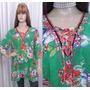 Blusa Bata De Musseline Estampa Floral Com Detalhe No Decote