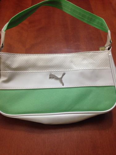 3867b5d14da13 Bolsa De Ombro - Puma - Original - Branca E Verde