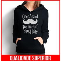 Moleton Feminino Canguru Harry Potter Once Casaco Blusa