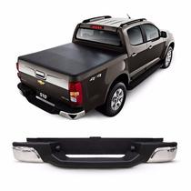 Parachoque Traseiro S10 2015 2014 2013 12 Cromado Chevrolet