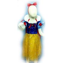Vestido Branca De Neve Importado