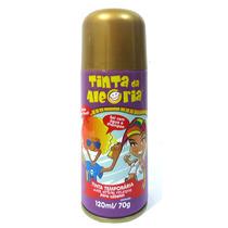 Kit 6 Spray Colorir Cabelo Tinta Da Alegria Carnaval Dourado