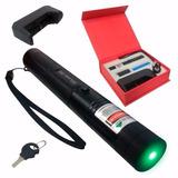 Super Caneta Laser Pointer Verde + Forte 98.000mw Min .30 Km