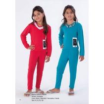 Pijama Feminino Infantil Frio - Marca Victory Pijama Longo