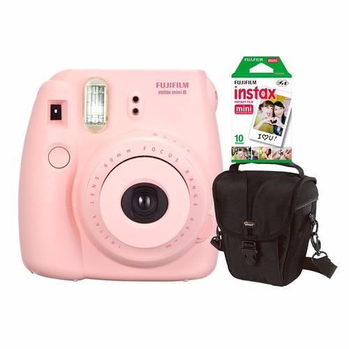 Câmera Fujifilm Instax Mini 8 Rosa C / Estojo C / 10 Fotos